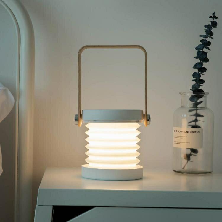 創意燈籠燈3D小夜燈閱讀臺燈學生宿舍戶外手提燈生日情人節禮物yh