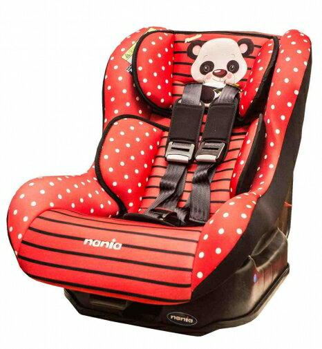 【淘氣寶寶】法國 納尼亞0-4歲安全汽座 熊貓紅 FB00296