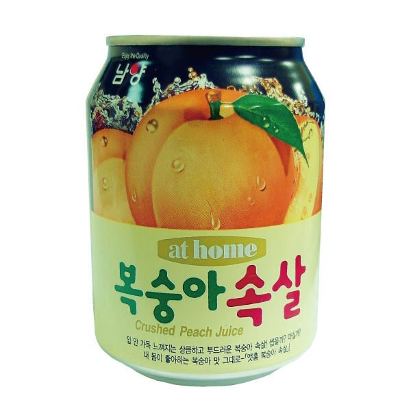 韓國 at home 水蜜桃果汁 238ml/罐【櫻桃飾品】 【24635】