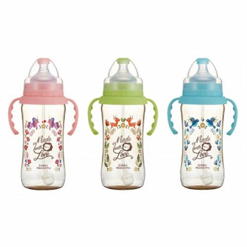 辛巴桃樂絲PPSU自動寬口葫蘆大奶瓶360ml果綠天藍蜜粉360ml『121婦嬰用品館』
