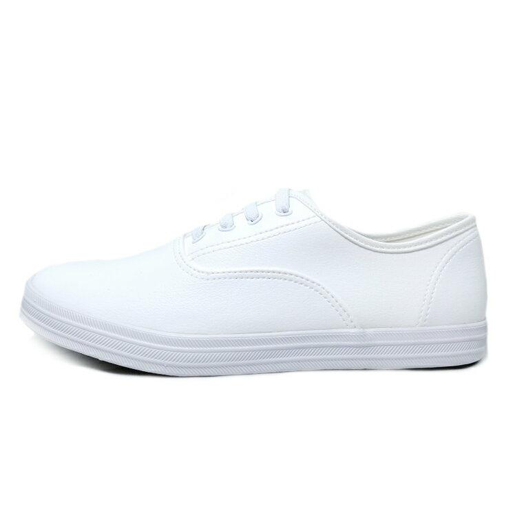 【滿額領券↘折$120】女款柔軟皮質懶人休閒鞋 [37119] 白 MIT台灣製造【巷子屋】