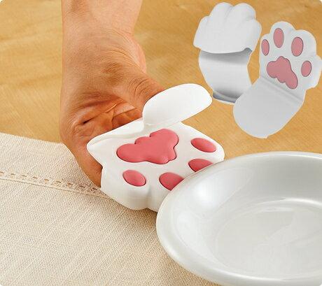 日本貓咪肉球手掌隔熱手套取鍋隔熱套療癒系單入白色755164代購
