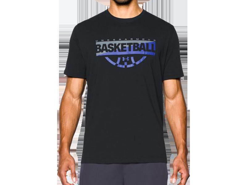 《UA出清69折》Shoestw【1298347-002】UNDER ARMOUR UA服飾 短袖 T恤 能量棉 BASKETBALL 黑色 男生