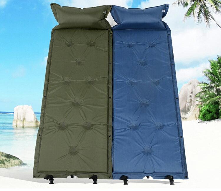 自動充氣墊 床 對折 對摺 充氣床墊厚度5cm  液 野餐瑜珈墊 防潮地墊  附收納袋