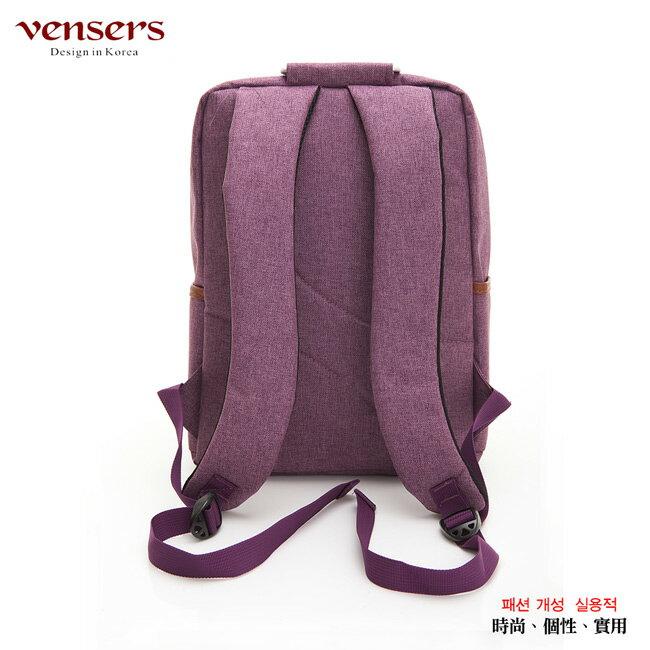 【vensers】簡約丹寧牛仔後背包(R00066102紫色) 1