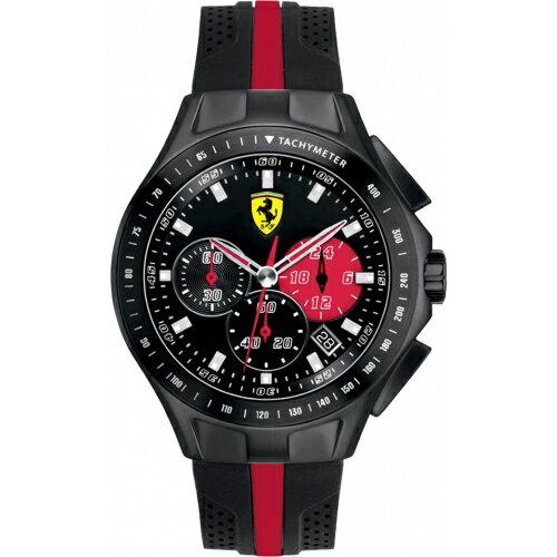 FERRARI Pit Crew速度感計時運動腕錶 / 黑 / 0830023 0
