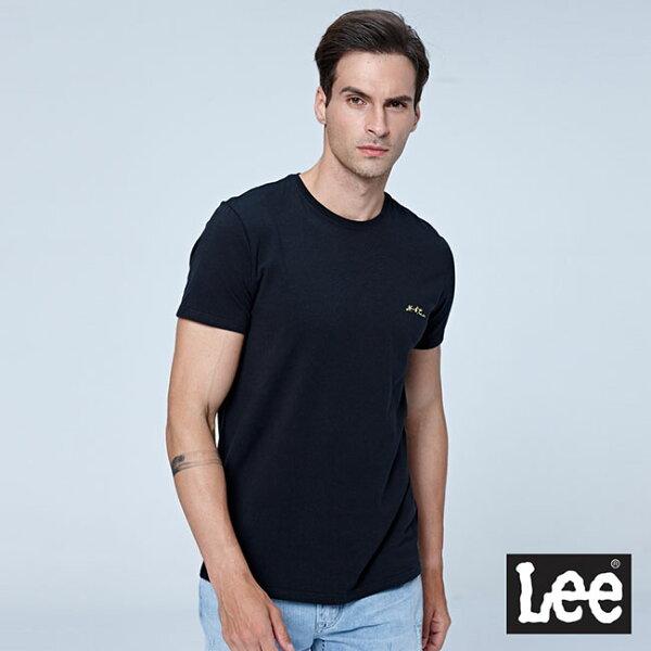 Lee小LGOGO短袖圓領TEE-黑色