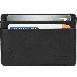 《TRAVELON》RFID手感證件夾(黑)