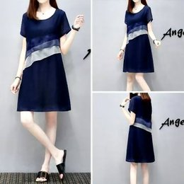 韓國雪紡歐根紗洋裝 4色 (S-4XL)