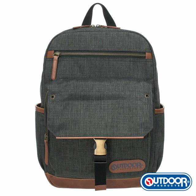 【OUTDOOR】都很俊系列-13吋電腦後背包-灰OD161168GY《品文創》
