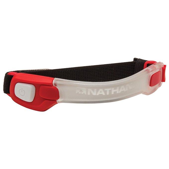 NATHAN LightBender 紅色 防水 LED手臂亮環 星光夜跑 安全性大提昇