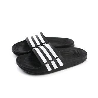 adidas Duramo Slide K 拖鞋 童鞋 黑白色 童 no436