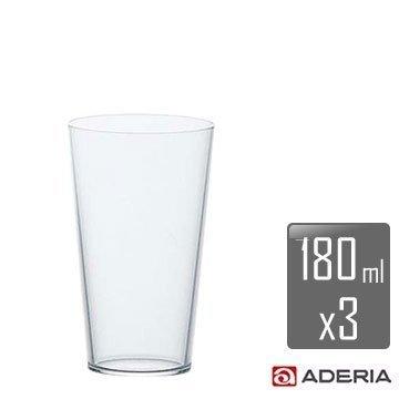 【ADERIA】薄吹錐型啤酒杯-Sx3入組 L-6647 / 日本製 石塚哨子 耐溫120度 玻璃杯 紅酒 小酌 宴客