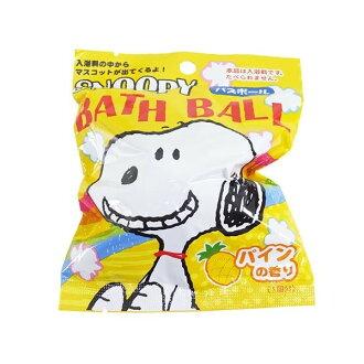 【買10送1可混搭】日本 SANTAN SNOOPY 2沐浴球 入浴球 80g 趣味浴玩 *夏日微風*