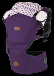 i-angel BIG SIZE加大系列 座椅式背帶/座墊式背巾/揹巾-紫蘭(總代理公司貨)