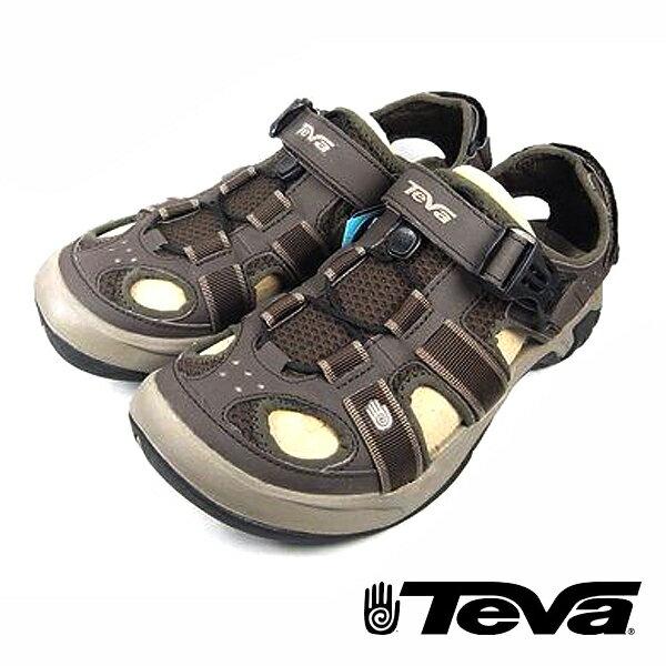 【TEVA 8折 │全店免運】TEVA Omnium (男) 戶外謢趾水陸運動涼鞋 覆趾涼鞋 土耳其咖啡色-TV6148TKCF