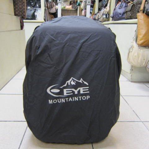 ~雪黛屋~EYE 背包防水雨衣罩行李箱雨衣罩輕便帶好收納可伸縮固定環釦MIT製造品質EYE997M