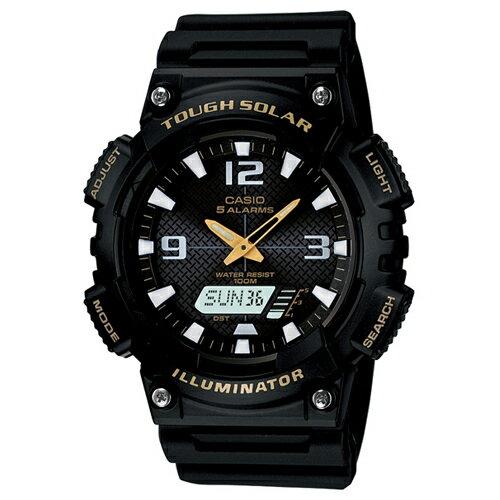 CASIO AQ-S810W-1B玩酷時代太陽能雙顯流行腕錶/黑46.6mm