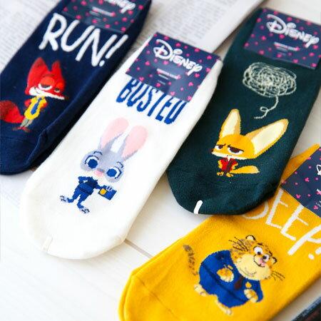 正版動物方城市全身造型短襪 兔子 茱蒂 狐狸 尼克 洪金豹 飛仔 襪子 造型襪 流行襪 Zootopia 韓國製【B062591】