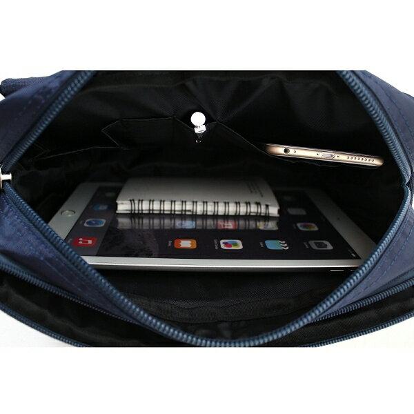 日系雙口袋雙層側背包 (休閒 斜背包 porter風 NEW STAR BL49 2