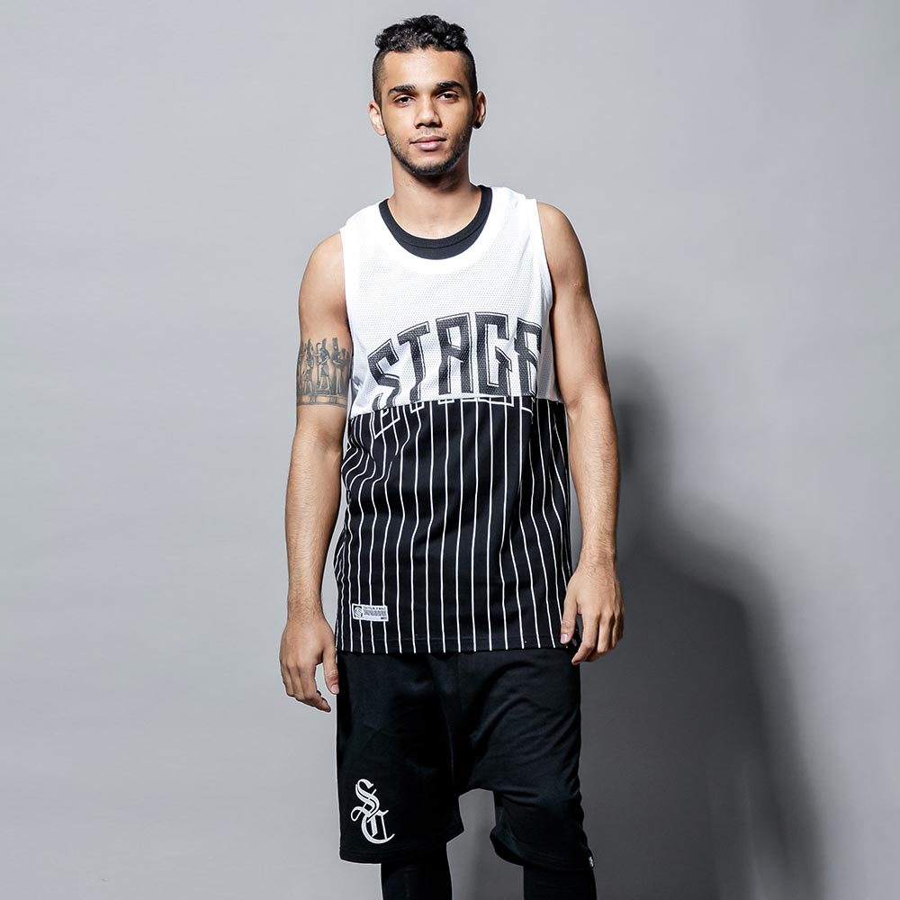 STAGE 2TONE BASKETBALL JERSEY 黑色/白色 兩色 0
