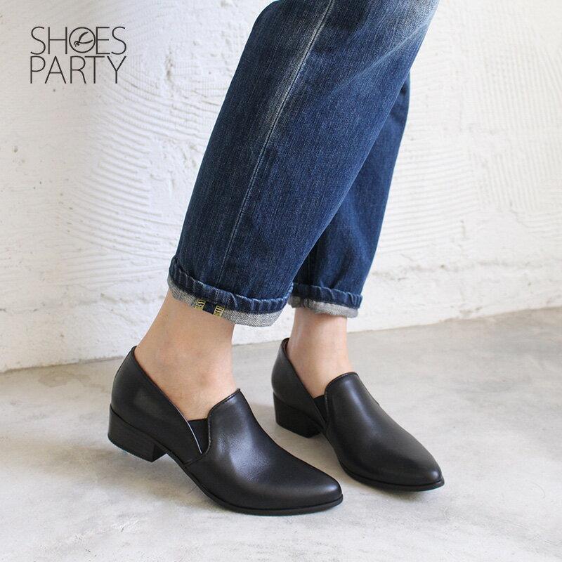 限量訂製【P2-18803L】滾邊素面真皮踝靴_Shoes Party 3
