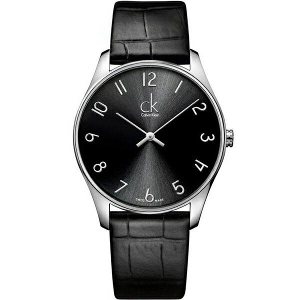 CK 經典系列(K4D211CX)簡約風潮時尚腕錶/黑面38mm