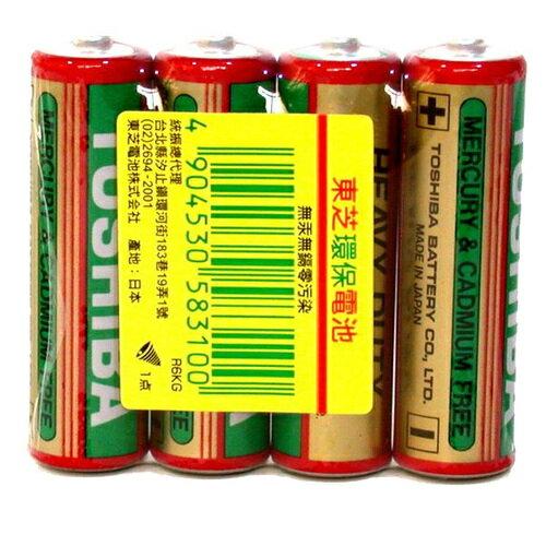 TOSHIBA 東芝 3號AA 碳鋅電池 (4入)/組
