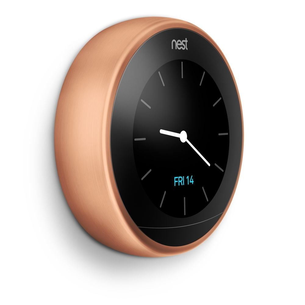Nest Learning Thermostat 3rd Generation, Copper, Works with Amazon Alexa 2