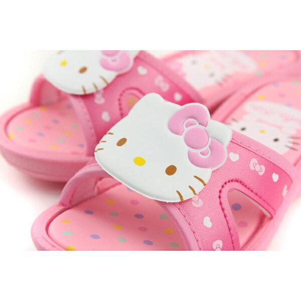 Hello Kitty 凱蒂貓 涼鞋 拖鞋 童鞋 粉紅色 中童 818124 no763 2