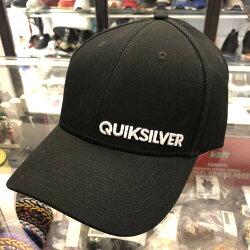 現貨 BEETLE QUIKSILVER CAP 黑色 文字 白LOGO 老帽 棒球帽 可調式 男女款
