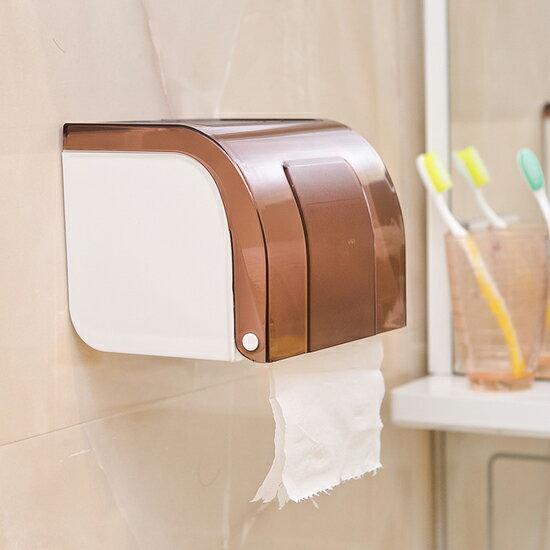 ♚MY COLOR♚黏貼式防水紙巾盒 捲紙 面紙 客廳 廚房 浴室 餐巾 衛生紙 桌面 美觀【G73】