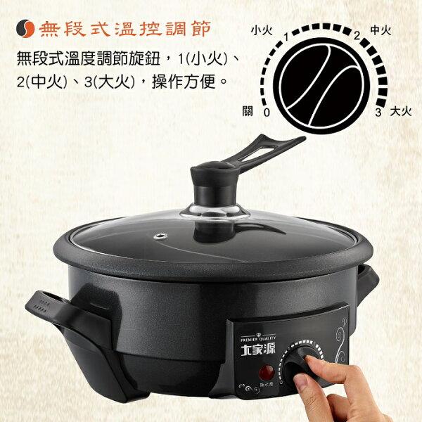 均曜家電:【大家源】2.8L健康鮮食鴛鴦鍋TCY-3708