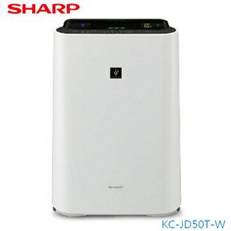 SHARP夏普 KC-JD60T-W 空氣清淨機 自動除菌離子/空氣淨化技術/日本原裝進口