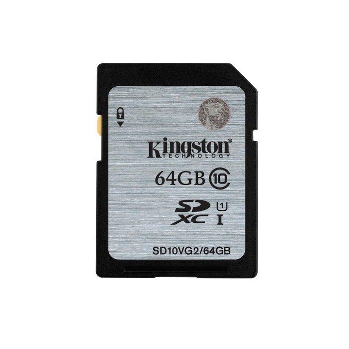 【新風尚潮流】金士頓 記憶卡 SD 大卡 64GB SDXC C10 U1 讀80MB/s SDS/64GB