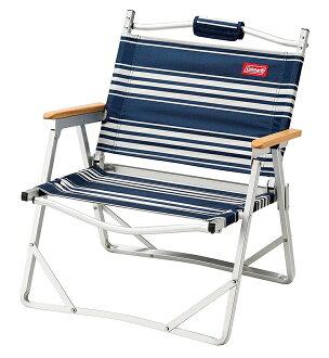 【鄉野情戶外用品店】 Coleman |美國| 輕薄摺疊椅/休閒椅 露營椅 摺疊椅-藍條紋/CM-31288M000