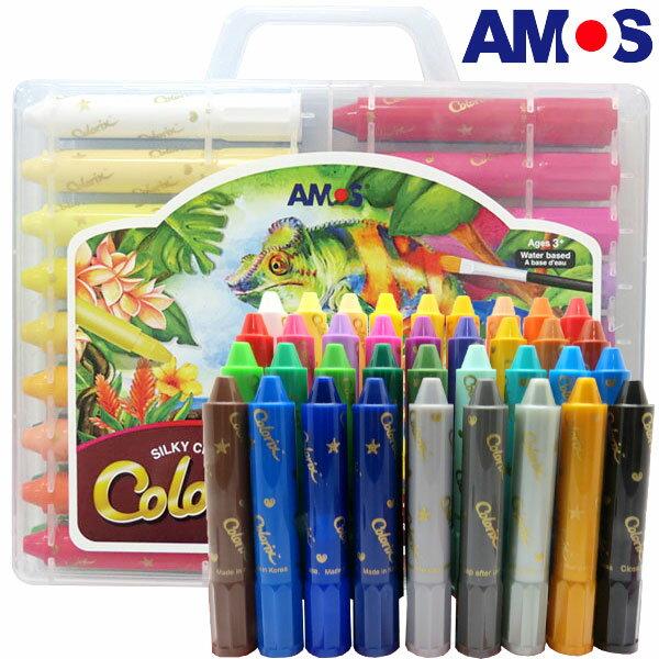 韓國AMOS 36色粗款神奇水蠟筆(台灣總代理公司貨)
