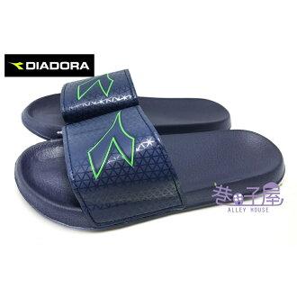 【巷子屋】義大利國寶鞋-DIADORA迪亞多納 男款減壓一片式運動拖鞋 [3256] 藍 超值價$198