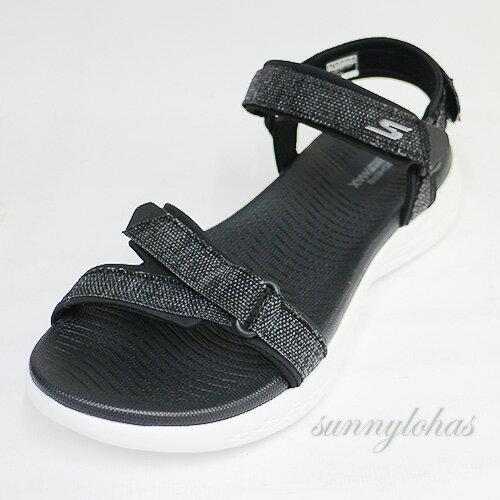 SKECHERS(女)涼鞋On-The-Go600運動魔鬼氈輕便-15315BKW黑白[陽光樂活]