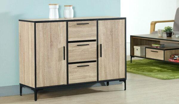 尚品傢俱:【尚品傢俱】JF-405-2喬治4尺梧桐色餐櫃
