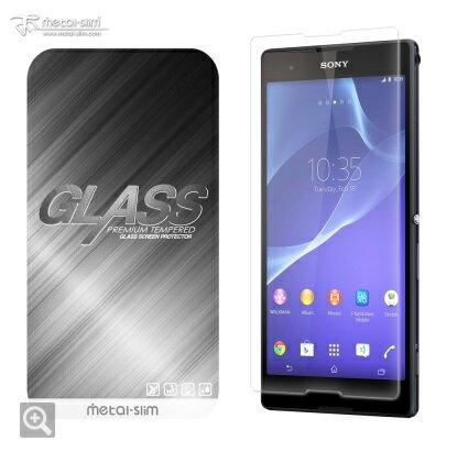 【UNIPRO】Metal-Slim SONY Xperia T2 Ultra 9H弧邊耐磨防指紋超薄鋼化玻璃保護貼