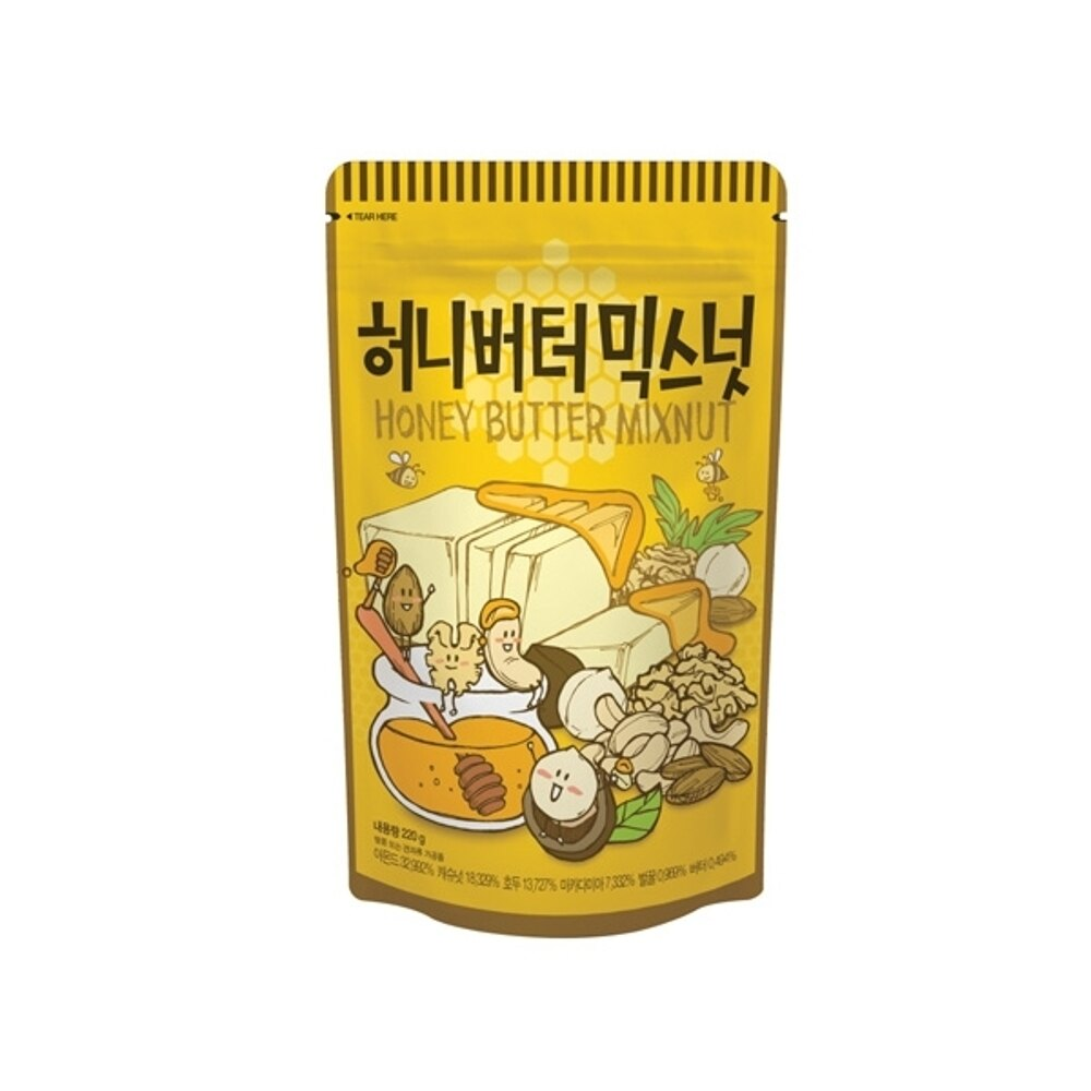 韓國 Tom's 綜合堅果(蜂蜜奶油味)220g【小三美日】◢D206474