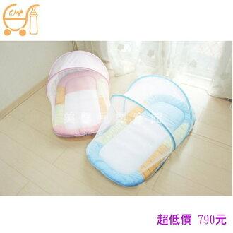 *美馨兒* 東京西川 GMP BABY 嬰兒床 寶寶厚蚊帳睡墊/嬰兒蚊帳(二色可挑) 790元