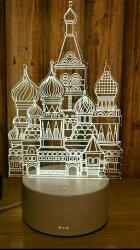 創意LED小檯燈 250元 (現貨与預購) 城堡 夜燈 3D 北歐風 無印質感 公主夢