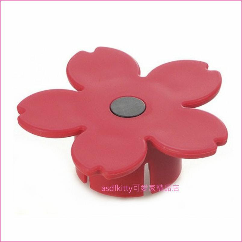 asdfkitty可愛家☆日本製 穗?製作所 紅色櫻花造型開瓶器/開罐器-不怕弄壞指甲-易開罐跟寶特瓶都可開
