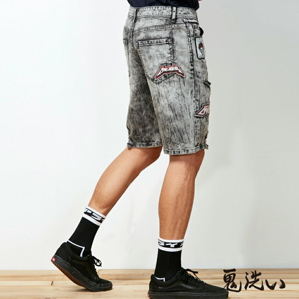 【春夏新品】鬼洗潮標水洗刷破短褲  - BLUE WAY  ONIARAI鬼洗 2