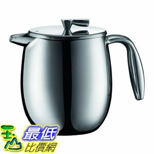 [107美國直購] 咖啡機 Bodum COLUMBIA Coffee Maker, Thermal French Press Coffee Maker, Stainless Steel, 17 Ounce