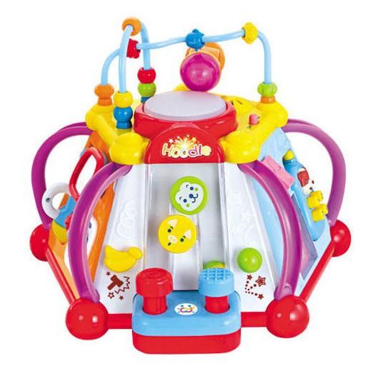 麗嬰兒童玩具館~匯樂-快樂小天地 .多功能六面音樂智慧盒.十五合一超有趣.專櫃同款 0