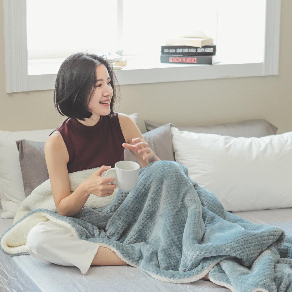 【熱銷破2千條】日本同步法蘭絨x羊羔絨毯-5色 毛毯 / 毯子 / 保暖 / 柔軟 台灣製造 翔仔居家 外島運費另計 5