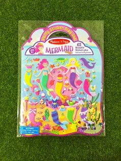 《★代購★美國瑪莉莎Melissa&Doug》可重複黏貼泡泡貼貼紙遊戲書美人魚美國代購平行輸入溫媽媽